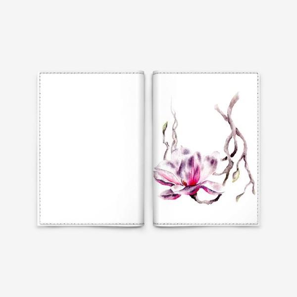 Обложка для паспорта «Цветок магнолия»