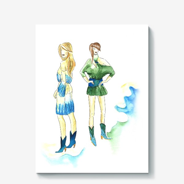 Холст «fashion girls»