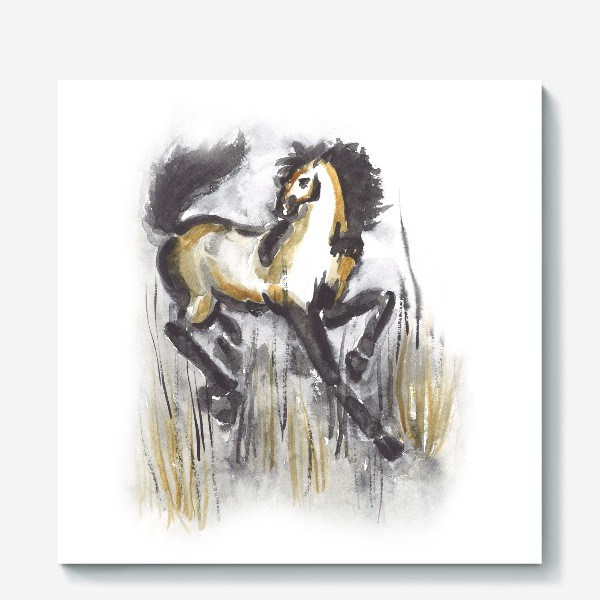 Холст «лошадь»