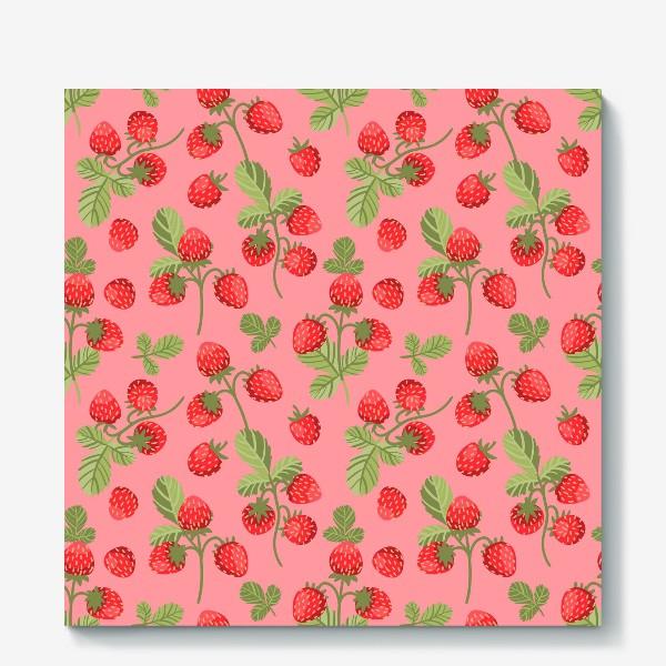 Холст «Розовая земляника»