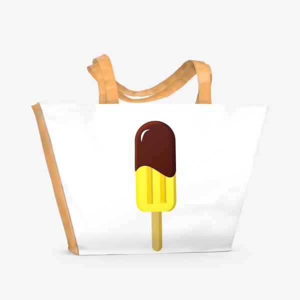 Пляжная сумка «Лимонное мороженое»