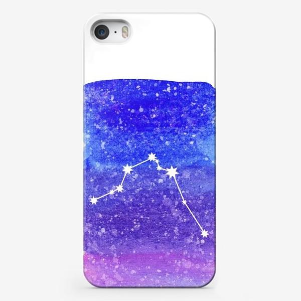 Чехол iPhone «Созвездие Водолей. Акварельный фон»