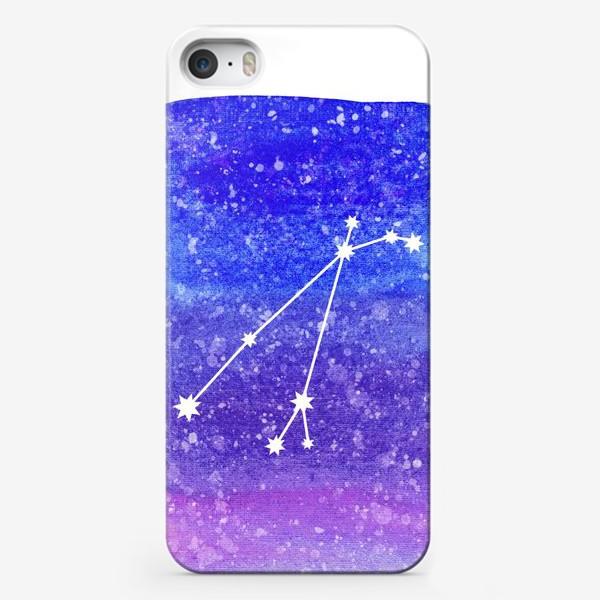 Чехол iPhone «Созвездие Овен. Акварельный фон»