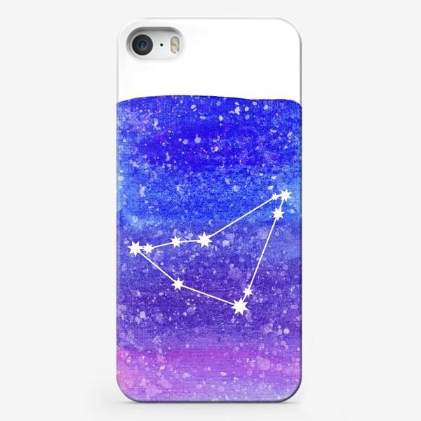 Чехол iPhone «Созвездие Козерог. Акварельный фон»