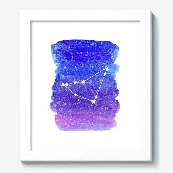 Картина «Созвездие Козерог. Акварельный фон»