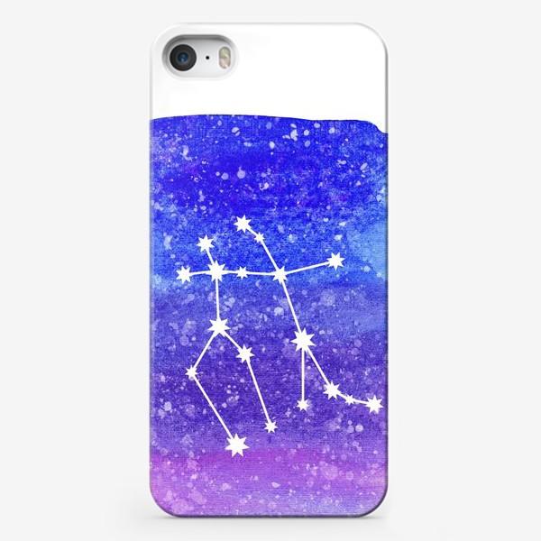 Чехол iPhone «Созвездие Близнецы. Акварельный фон»