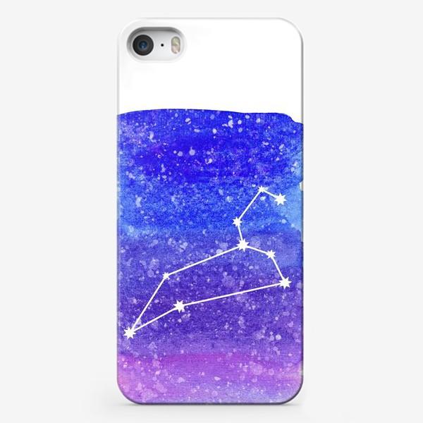 Чехол iPhone «Созвездие Лев. Акварельный фон»