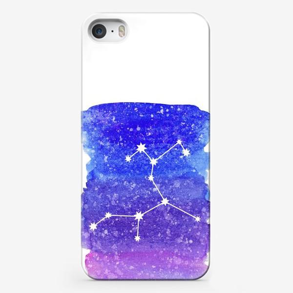 Чехол iPhone «Созвездие Стрелец. Акварельный фон»
