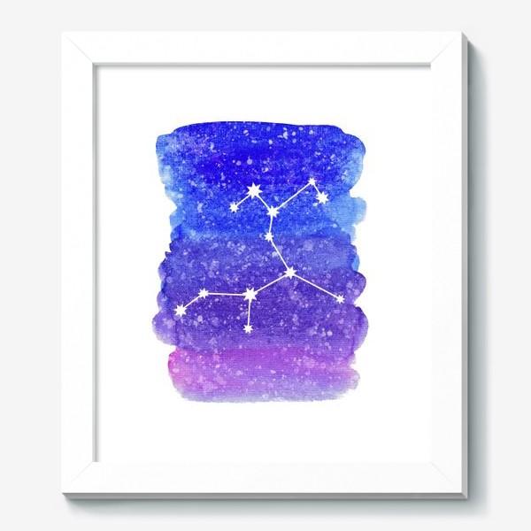 Картина «Созвездие Стрелец. Акварельный фон»