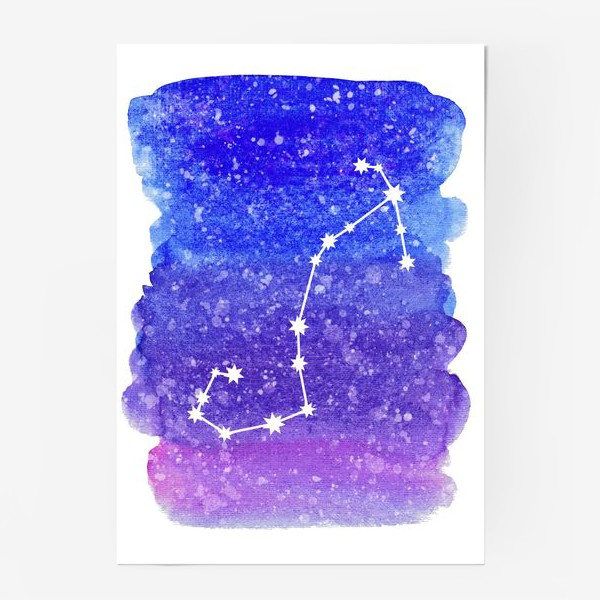 Постер «Созвездие Скорпион. Акварельный фон»