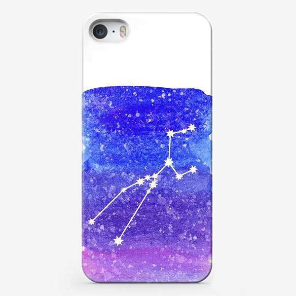 Чехол iPhone «Созвездие Телец. Акварельный фон»