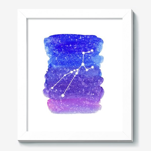 Картина «Созвездие Телец. Акварельный фон»