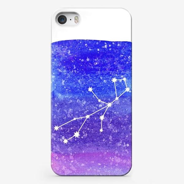 Чехол iPhone «Созвездие Дева. Акварельный фон»