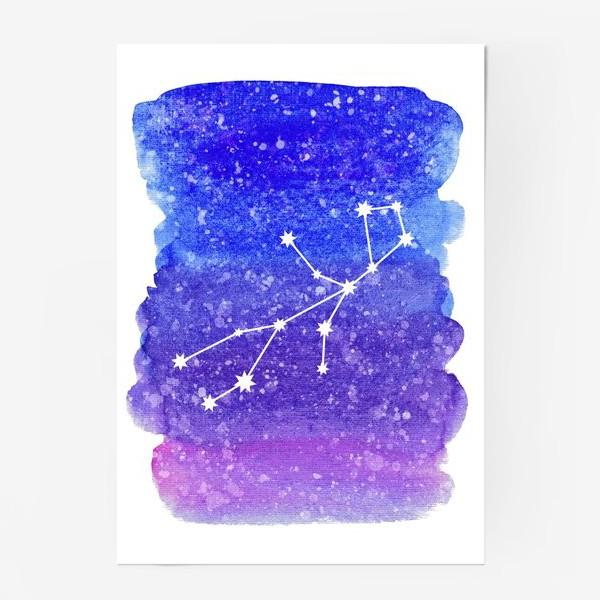 Постер «Созвездие Дева. Акварельный фон»