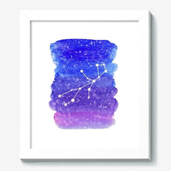 Картина «Созвездие Дева. Акварельный фон»