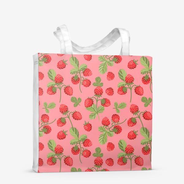 Сумка-шоппер «Розовая земляника»