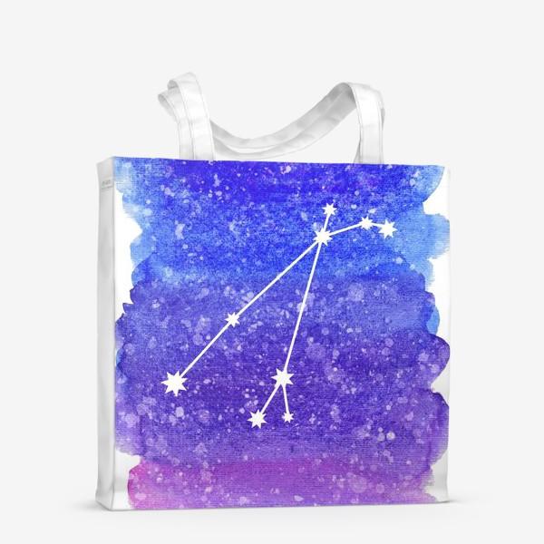 Сумка-шоппер «Созвездие Овен. Акварельный фон»