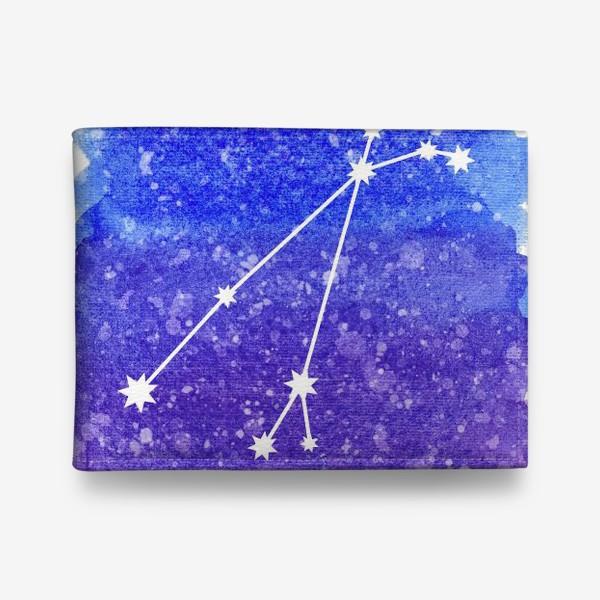 Кошелек «Созвездие Овен. Акварельный фон»