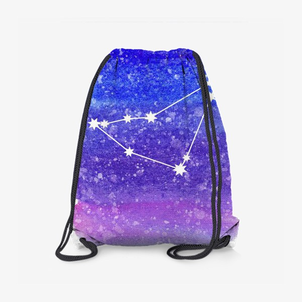 Рюкзак «Созвездие Козерог. Акварельный фон»