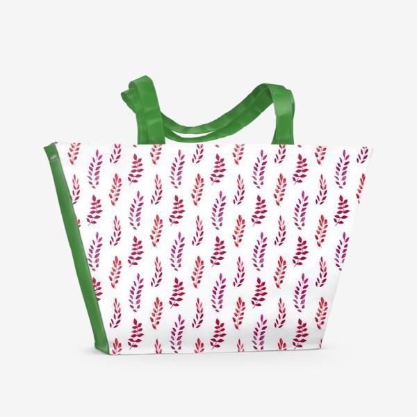 Пляжная сумка «Красные веточки»