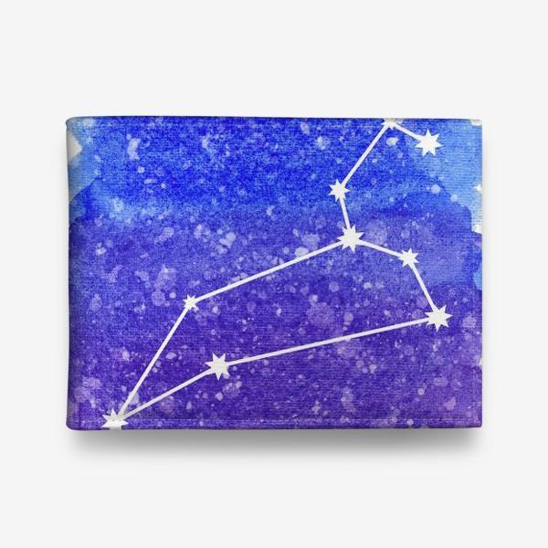 Кошелек «Созвездие Лев. Акварельный фон»