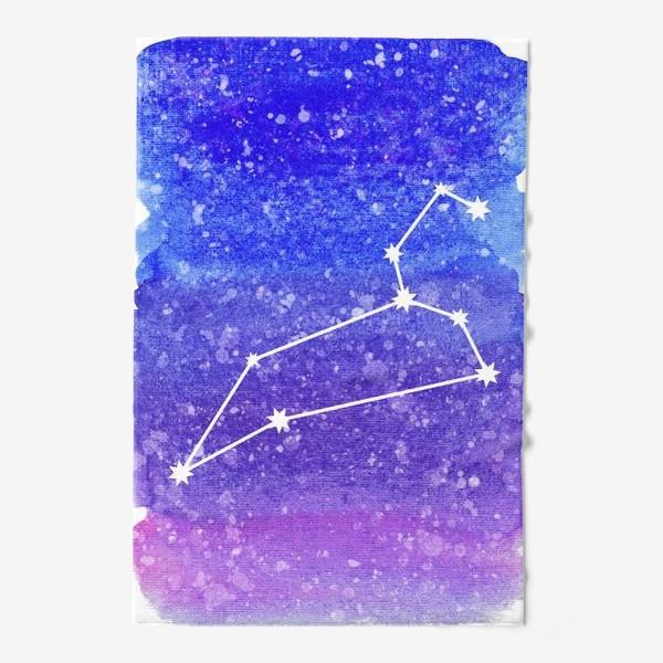 Полотенце «Созвездие Лев. Акварельный фон»