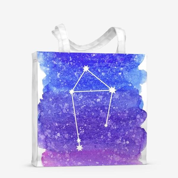 Сумка-шоппер «Созвездие Весы. Акварельный фон»
