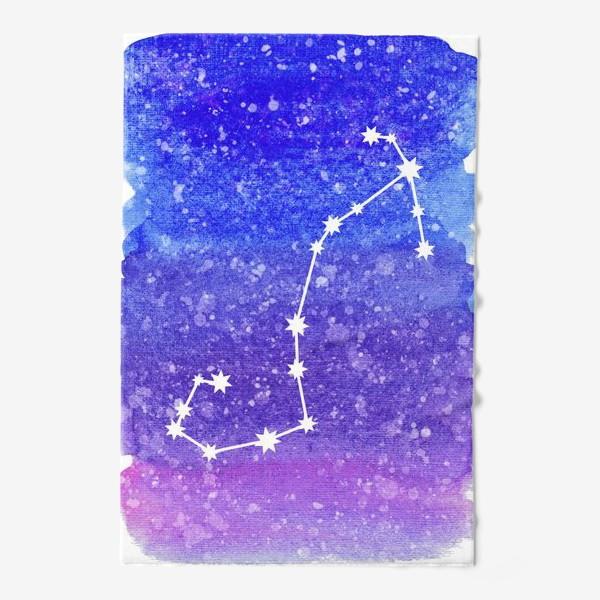 Полотенце «Созвездие Скорпион. Акварельный фон»
