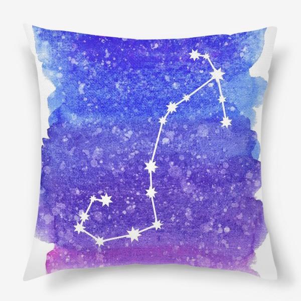 Подушка «Созвездие Скорпион. Акварельный фон»