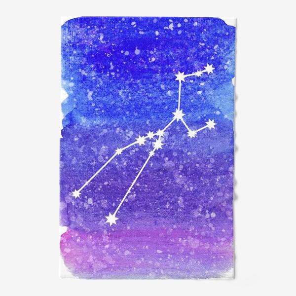 Полотенце «Созвездие Телец. Акварельный фон»