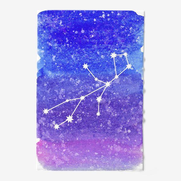 Полотенце «Созвездие Дева. Акварельный фон»