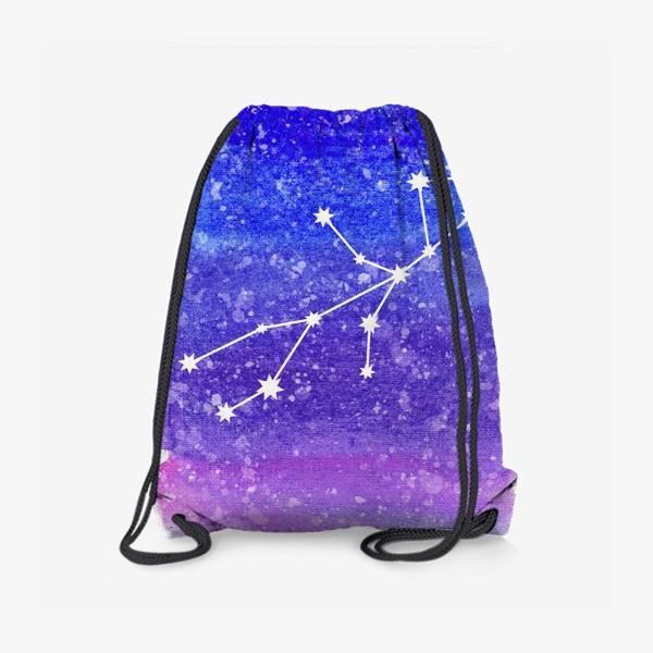 Рюкзак «Созвездие Дева. Акварельный фон»