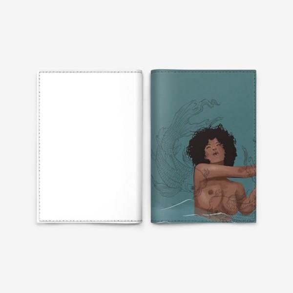 Обложка для паспорта «Девушка и рыбы»