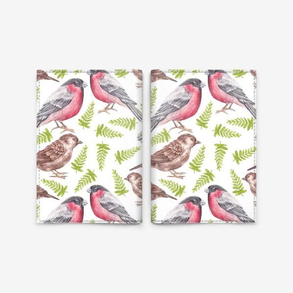 Обложка для паспорта «Птички»