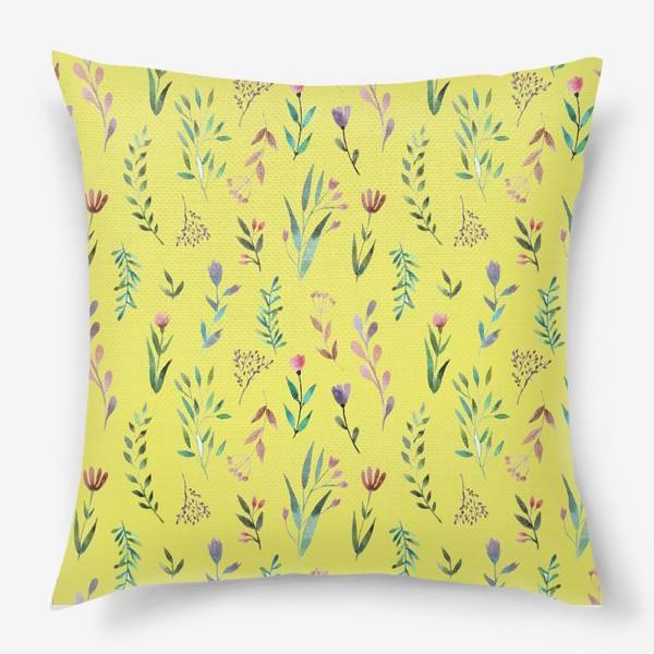 Подушка «Охра цветочная»