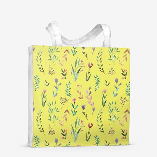 Сумка-шоппер «Охра цветочная»
