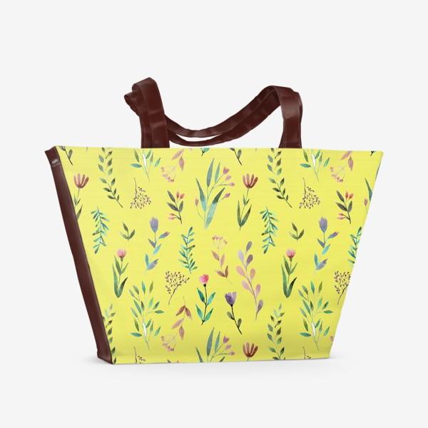 Пляжная сумка «Охра цветочная»