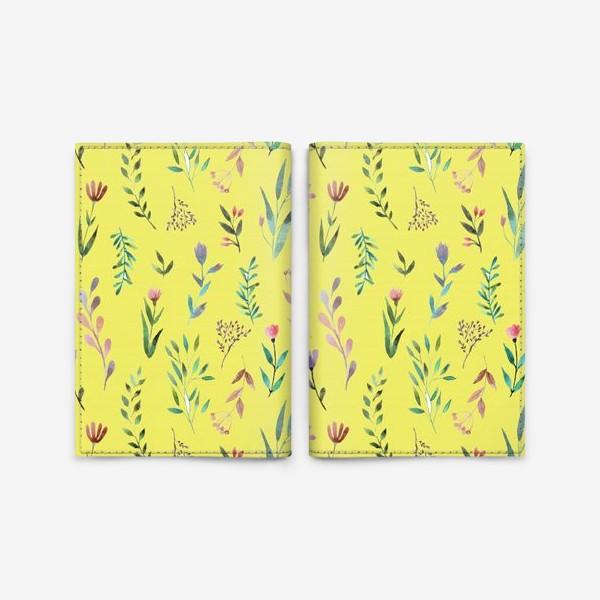 Обложка для паспорта «Охра цветочная»