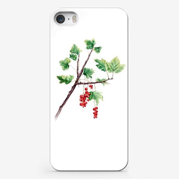 Чехол iPhone «Ветка смородины ботаническая иллюстрация»