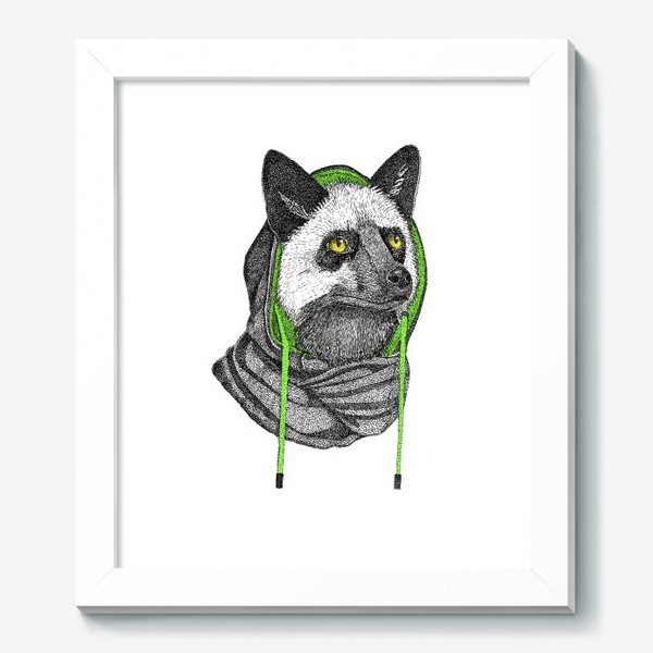 Картина «Лисичка чернобурка в капюшоне»