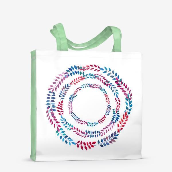 Сумка-шоппер «Орнамент из разноцветных веточек»