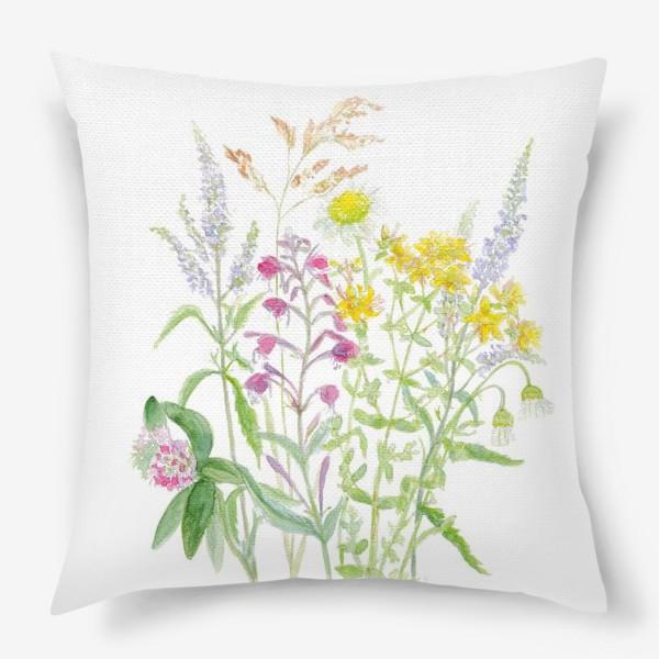 Подушка «Букет полевых цветов»