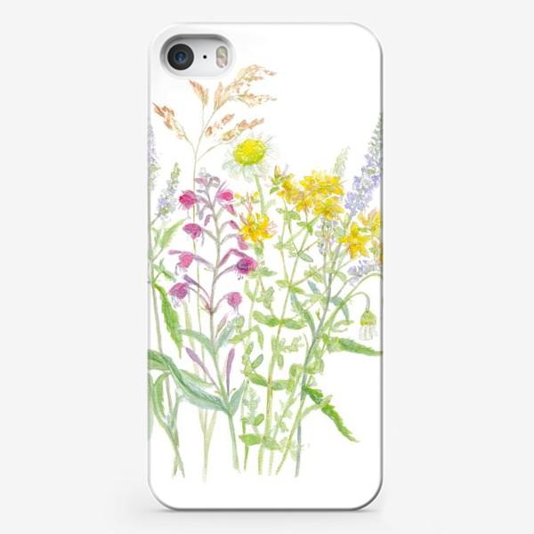Чехол iPhone «Букет полевых цветов»