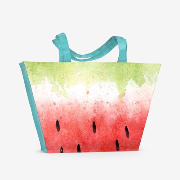 Пляжная сумка «Арбузный принт»