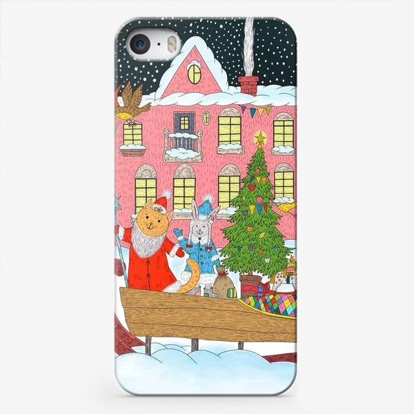 Чехол iPhone «Коты и Новый год»