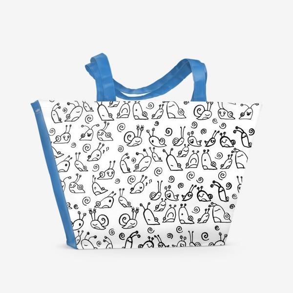 Пляжная сумка «Snails»