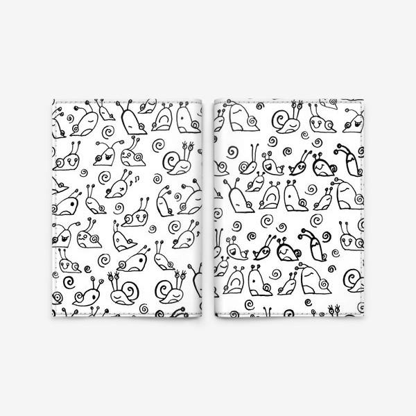 Обложка для паспорта «Snails»