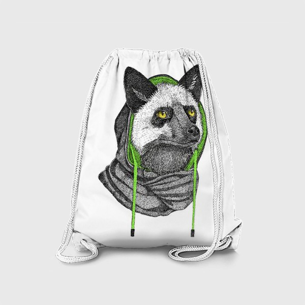 Рюкзак «Лисичка чернобурка в капюшоне»