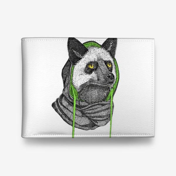 Кошелек «Лисичка чернобурка в капюшоне»