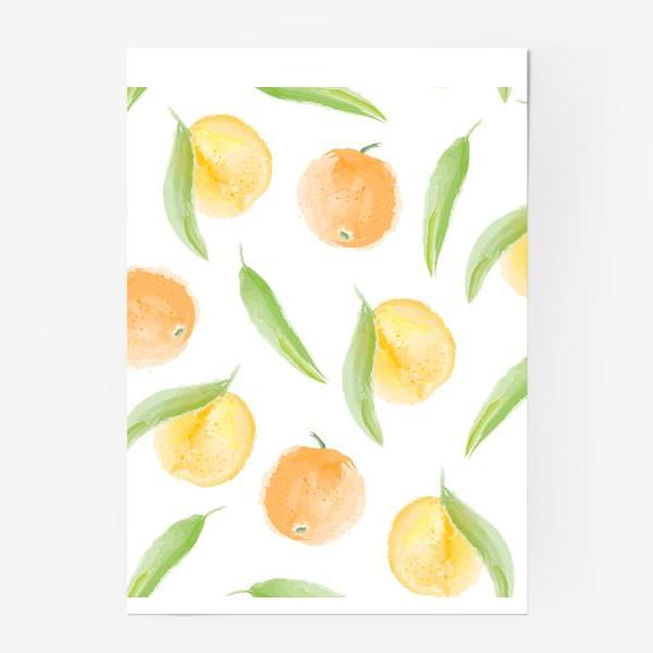 Постер «мандарины»